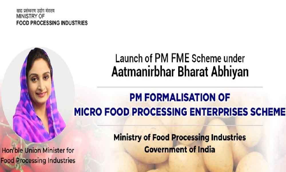PM Formalization of Micro Food Processing Enterprises Scheme