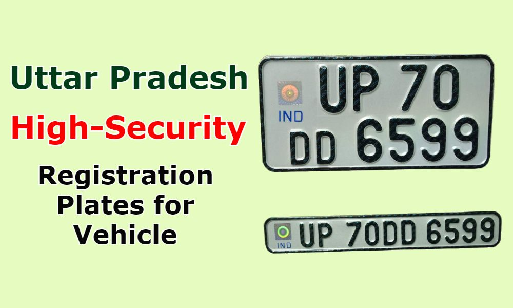 UP High-Security Registration Plates